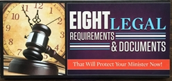 Eight Legal Requirements & Documents That will protect your ministry Now! Credit Repair